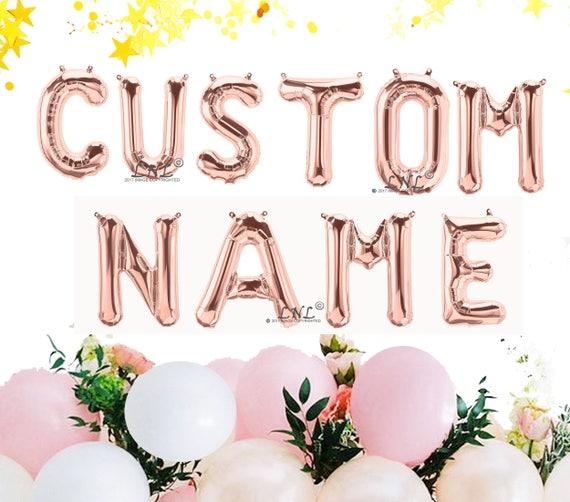 rose gold balloon custom name custom 16 rose gold etsy