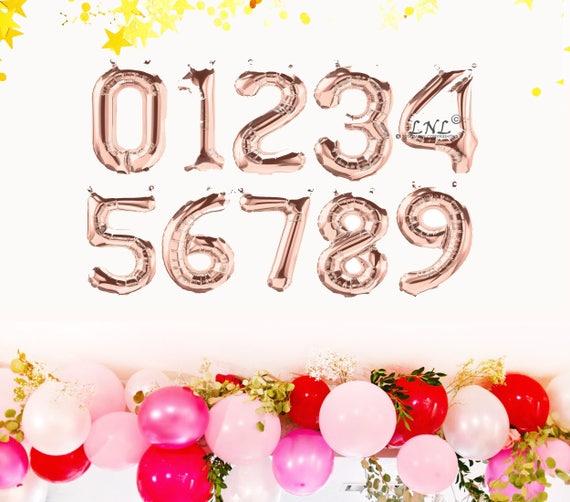 carta número personalizado globos de cumpleaños Globos de Oro Rosa salud a 30 años