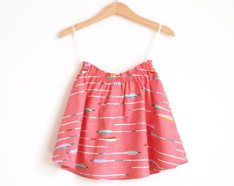 Girls Skirt Arrows, Toddler Skirt Coral, Girls Skirt Twirl, Girls Skirt Coral, Girls Skirt Bright, Toddler Skirt Colorful, Twirly Skirt