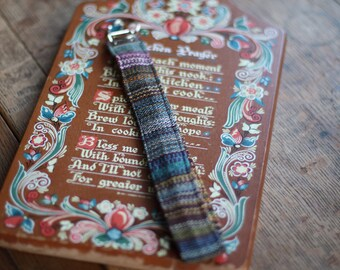 884a2dadeaa Kitchen Prayer key fob - handwoven wristlet keychains from 14 Mile Farm