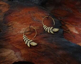 Leaf - ear jewelry