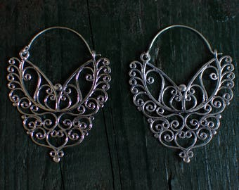 Silver Royal Tropical Earring - Large