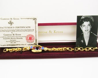 """Jackie Kennedy Muti Color Crystal  Bracelet with Ext. 7 1/2"""" to 9 1/2'   NLA   """"    """"OFFERS EXCEPTED"""""""