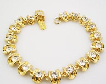 """Jackie Kennedy Cupped  Pave Bracelet   7 1/2"""""""