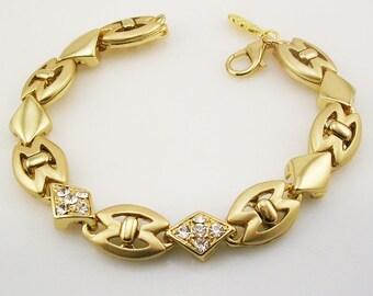 """Jackie Kennedy Polished Pave Bracelet   7 1/4"""""""