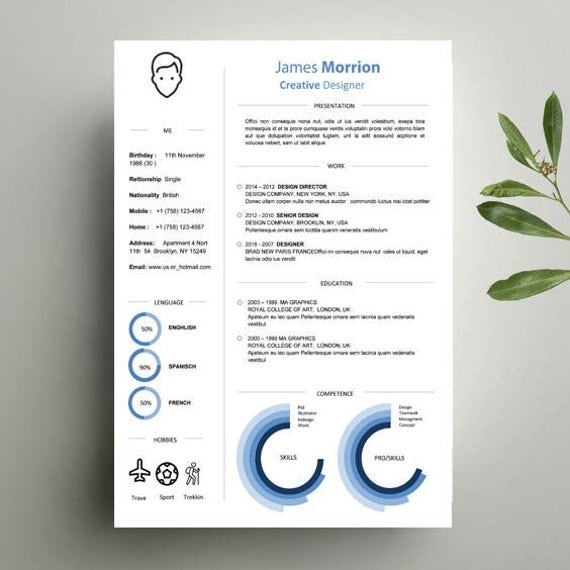 template curriculum vitae in word