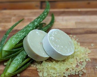 2 bars of Olive Soap with honey, aloe vera & natural mastic