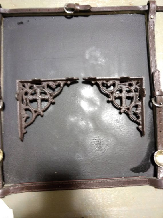 "/""Cast Iron Horse Shoe /& Star Towel Holder/"" Western Home Decor"