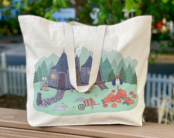 Fang's House Tote - Literary Tote