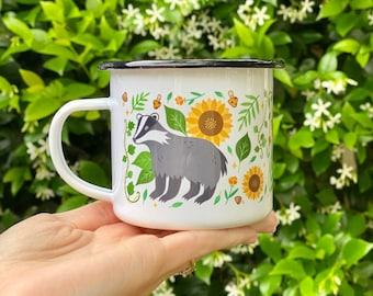 The Summer Badger Camp Mug - Literary Mug