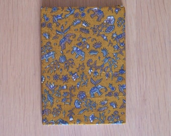 A6 Notebook / Sari covered / India / Stationery / Student gift / Back to School / Office stationary / Office supplies / Gift / Birthday gift