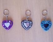 Heart glitter mirror key ...