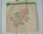 Shopping bag floral design