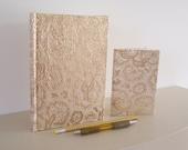 Notebook gift set made using sari fabric