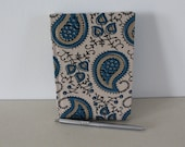 A6 notebook in paisley design