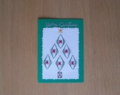 Stitched Christmas tree card