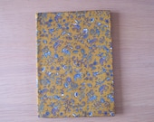 A5 notebook covered in elephant print sari fabric
