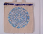 Reusable shopping bag mandala design