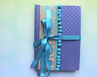 Sari notebook journal, sari fabric notebook, eco friendly, reused sari, unique gift, gift for writers, Birthday gift, Christmas gift, saree