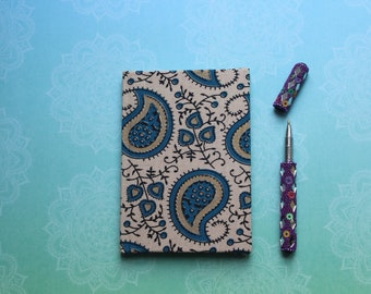 Handmade fabric notebook - Fabric Journal - fabric notebook - eco friendly - gift for writers  - pocket book - birthday gift