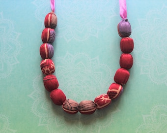 Sari fabric necklace, unique gift for her