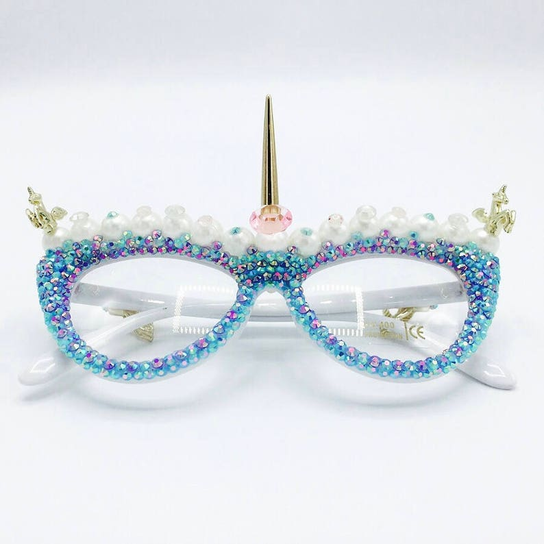 b2b21d8db541 Festival Eyewear Unicorn Mermaid Glasses Party Rave Harajuku