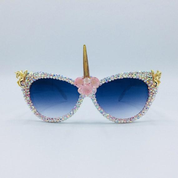 68f7ac2610af Festival Unicorn Sunglasses Kawaii Eyewear Party Rave