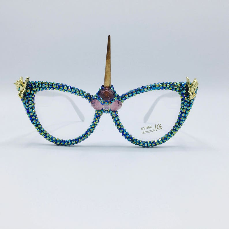 b37c0c48f88c Festival Eyewear Unicorn Glasses Party Rave Harajuku Fashion