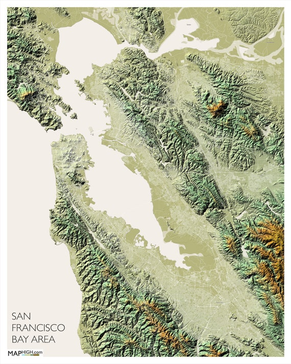 San Francisco Bay Area Map Printed Poster Oakland Etsy Full map of empire bay with wanted. san francisco bay area map printed poster oakland california silicon valley apple san fran