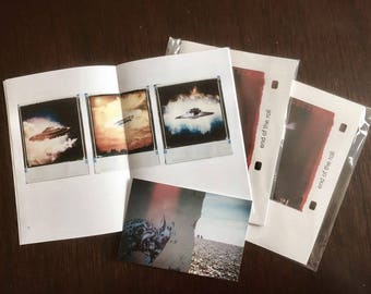 Handmade Artists Book -  End of the Roll - Photography Zine featuring Polaroid and Low-Fi Photography.
