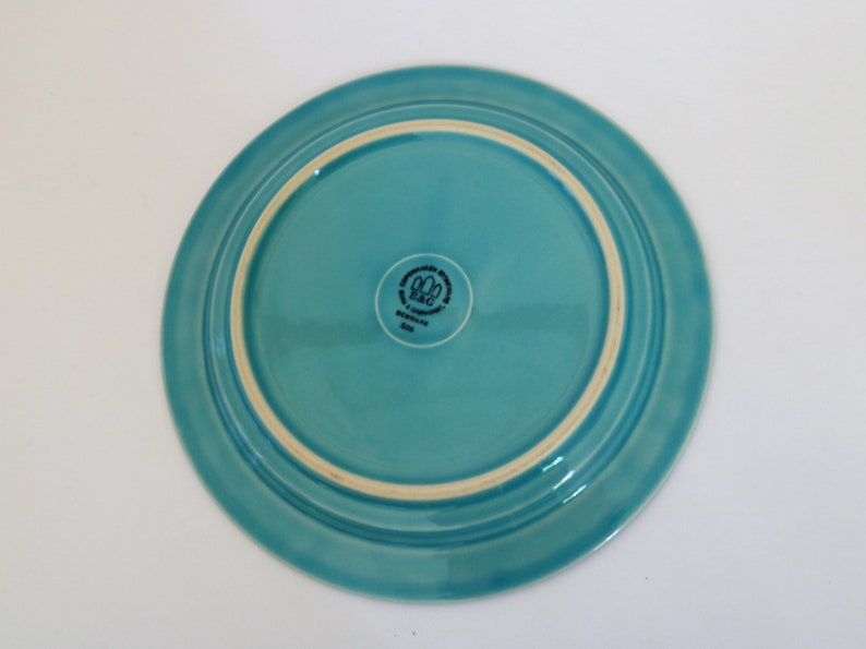 Bing og Groendahl TURQUOISE CORDIAL PALET  Dinner Plate by Jens Harald Quistgaard  Mint Condition