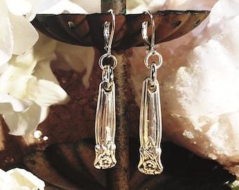 Silver Plated Spoon Earrings