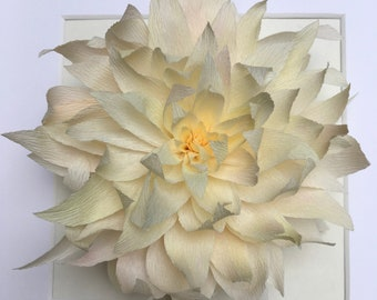 Paper flower art paper sculpture floral art wall decor etsy paper flower art paper sculpture floral art paper flower wall decor paper dahlias paper anniversary mightylinksfo