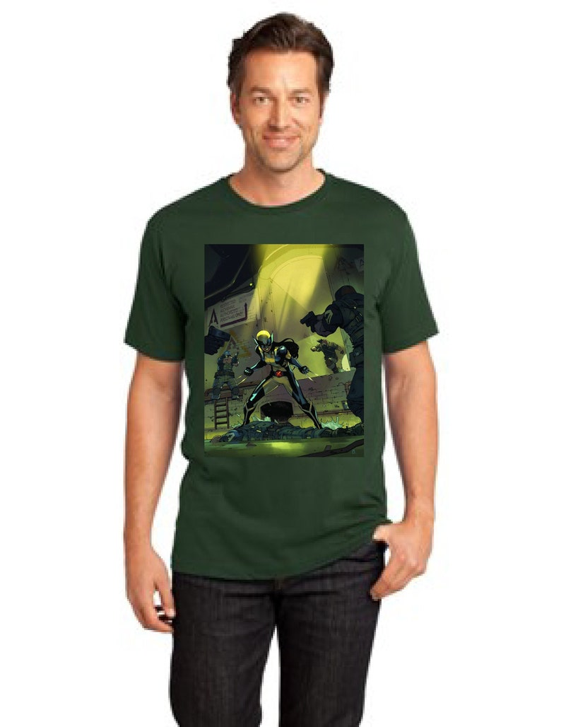 X-Men Laura Kinney aka X-23 District Made Men/'s Perfect Weight Crew T-Shirt Size XS To 4XL