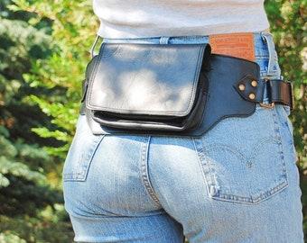 Belt Bag for Women, Leather Hip Bag, Black Belt Bag, Utility Belt, Hip Bag for Women, Leather Fanny Pack, Black Hip Bag, Fanny Pack Women