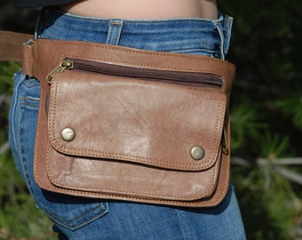 Leather Bum Bag, Festival Fanny Pack, Waist Bag for Women, Bum Bag for Men, Fanny Pack for Women, Leather Waist Bag, Festival Bum Bag
