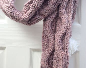 Cable knit scarf #4