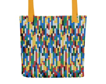 Building Blocks Tote Bags – Colorful / Fashion tote bag for women / Cute Birthday Girl Gift Idea / Building Bricks Toy Collector Totes