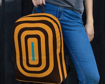 Unique Notebook Backpack - Brown / College Backpack / Commuter Laptop Backpack / Anti-theft Office Professional Backpack for men & women