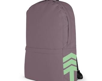 "Modern Laptop Backpack – Purple Turquoise / College Macbook Notebook bag / 13"" Laptop Knapsack / Gift for Men Women / Commuter Backpack"