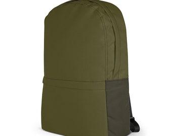 "Military Style Backpack / 13"" Laptop Notebook Backpack / College Knapsack / Macbook Bag / Gift for Men & Women / Back to School – Khaki"