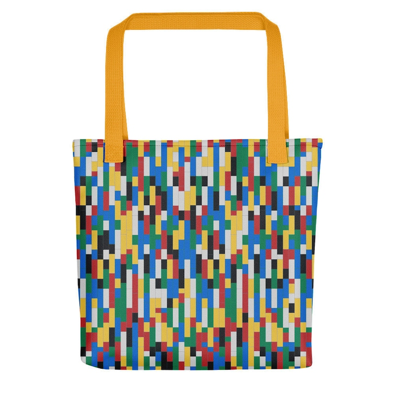 Building Blocks Tote Bags  Colorful / Fashion tote bag for image 0
