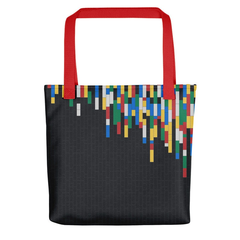 Building Blocks Tote Bags  Dark Grey / Fashion tote bag for image 0
