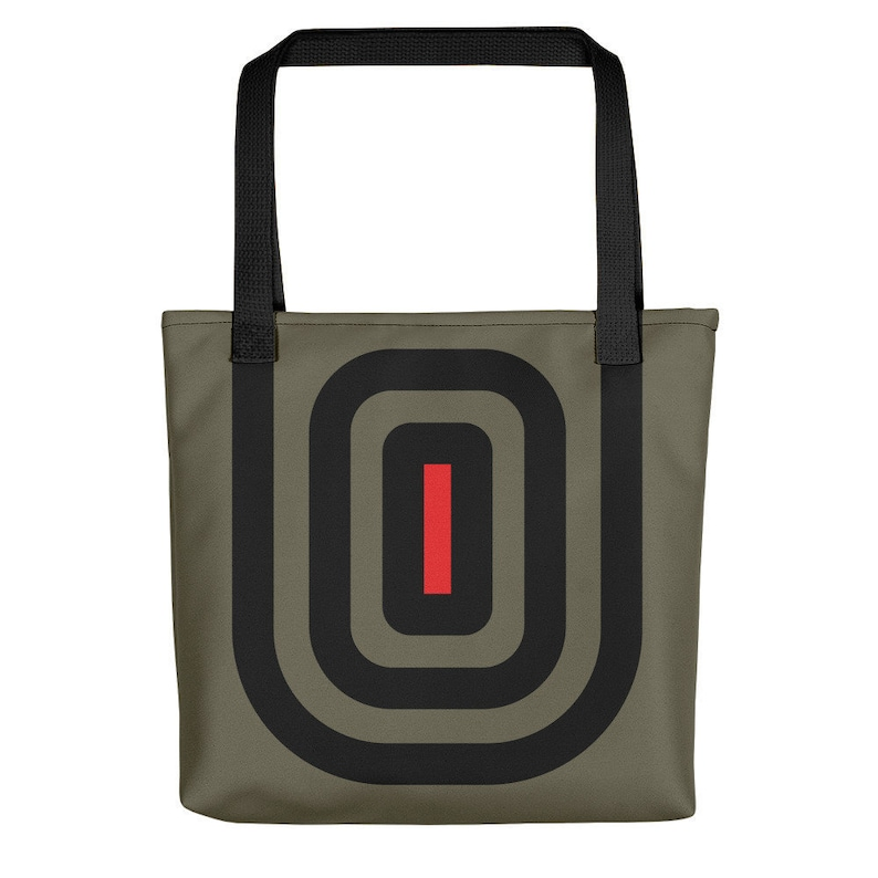 Mesmerized Graphic Tote Bag  Grey Black / baby totes / image 0