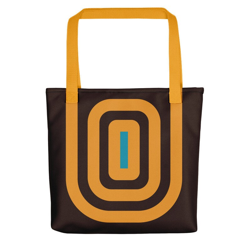 Mesmerized Tote Bag  Brown / Grocery Totes / Baby Shower Gift image 0