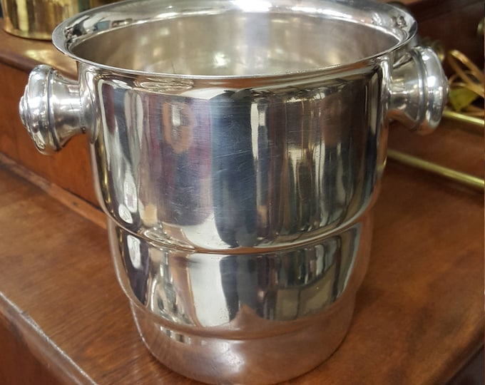On Sale - Antique Art Deco Silver Champagne Bucket Modern Lines Silverplate Ice