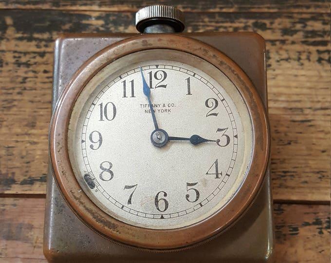 Antique Tiffany & Co New York Desk Clock Bronze Works