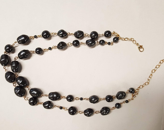 Jackie Kennedy JBK Camrose Kross Beaded Vintage Necklace and Earrings In Box