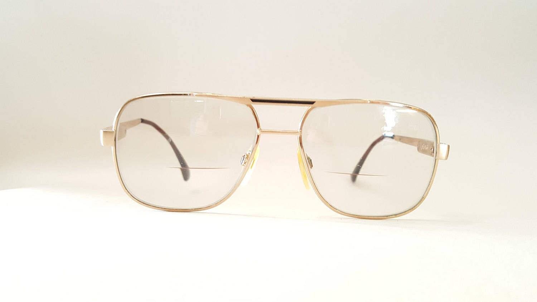 a04fe2c4d1f2 Vine Men S Aviator Safilo Elasta Gold Metal Frame Eyewear Gles Sungles  Shades 70s 80s