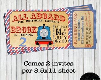 train invitation etsy